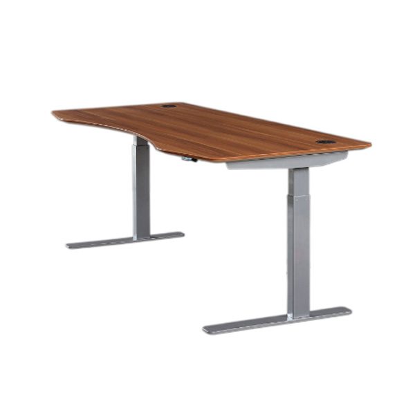 Electric Height Adjustable Standing Desk With Contoured